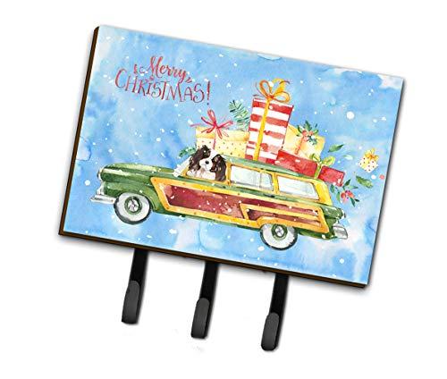 Caroline's Treasures CK2440TH68 Merry Christmas Tricolor Cavalier Spaniel Leash or Key Holder, Triple, Multicolor