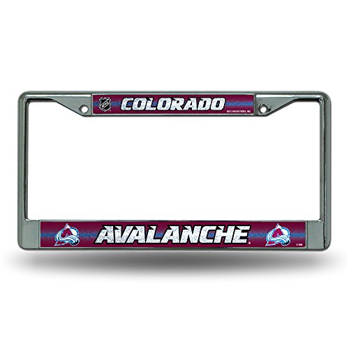 Colorado Avalanche Nhl Light - NHL Colorado Avalanche Bling Chrome Plate Frame