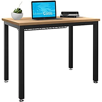 Small Computer Desk For Home Office   36u201d Length Table W/ Cable Organizer