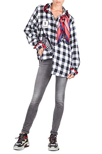 Femme Noir 56 Couleur Shirt Progress 5 Zebra Noir Chemise Blanc B Blanc xwqpfPP1E