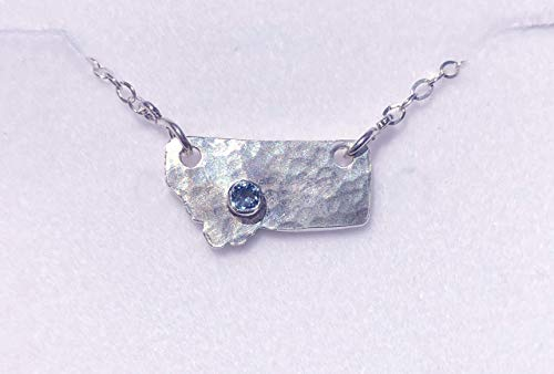 - MONTANA SAPPHIRE STATE OF MIND PENDANT NECKLACE FINE SILVER