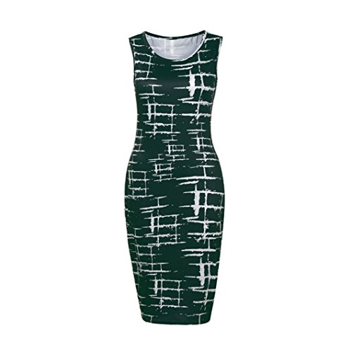 Maniche Vestito Verde Donna Sanfashion Corte Ad A Linea Bekleidung wX8nwv56qz
