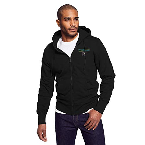 Rigg-hoodie Daryl Hall and John Oates Men's Black Zip-up Hoodie Casual Style -