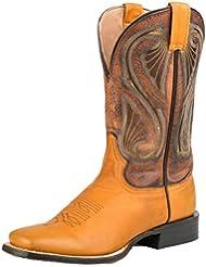 Stetson Western Boots Women Past Spur Ledge Square 12-021-8801-0879 YE