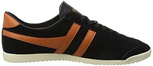 Gola Heren Bullet Suede Mode Sneaker Zwart / Moody Oranje