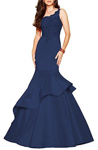 Navy Blue Taffeta Dress - 1