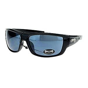 Choppers Mens Skater Motorcross Warp Biker Rectangular Sport Plastic Sunglasses