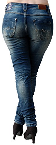 Jeans Para Vaqueros Monkey Mujer Skinny Blue AUqfw5pxp
