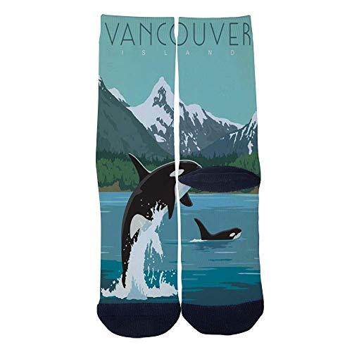 (Eletina lee Eletina kgirt Men S Women S Custom Canada Vancouver Island Socks 3D Print Novel Creative Casual Crew)