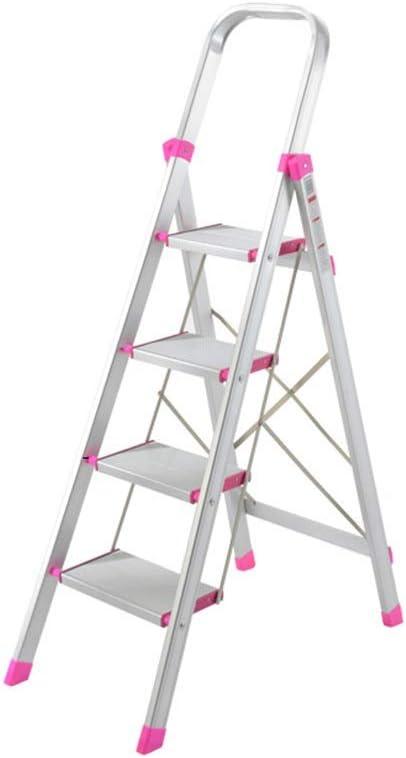 Escalera plegable Aleación de aluminio plegable, ligero almacenamiento Escalera interior Escalera de escalada/exterior/rosa roja de plástico Accesorios/Peso: 6 Kg Multifuncional: Amazon.es: Bricolaje y herramientas