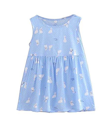 Para Precioso conejo Vestido De Estampado Verano 1 Niñas wnI1axIgq