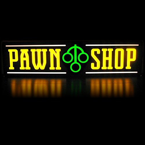 LED Pawn Shop Light Box Sign | Lightbox Neon Alternative 1x4 Slim Line Window or Wall signs for Business | Great ROI | Energy Efficient | 1ft x 4ft Yellow Green Horizontal