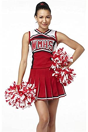 Red White Glee Cheerleader Costume Outfit Fancy Dress Hen