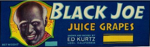 - Black Joe Juice Grapes Original Crate Label (books folk art)