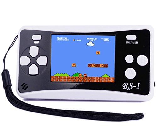 QINGSHE Handheld Game Console, Kids Classic Retro Game Electronics Toys Portable Video Console Player, 2.5