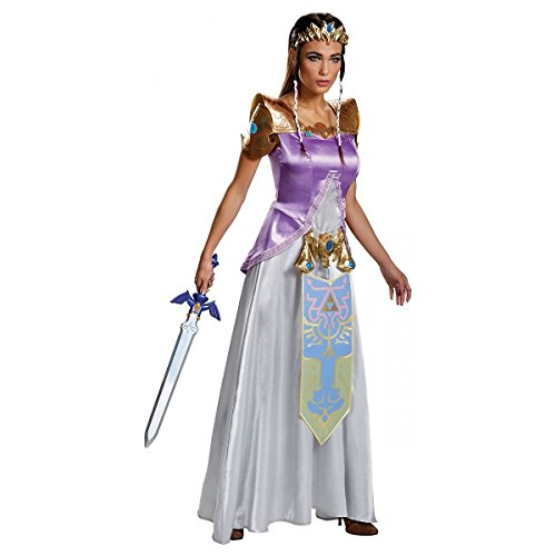Zelda Deluxe Adult Costume - (Princess Zelda Costumes For Adults)