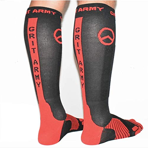 Premium Professional Athletic Graduated Compression Socks - Men, Women, Youth. For OCR, Obstacle, Rope, Mud, Running, Trail, Sports (Small - ()