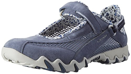 Allrounder by Mephisto NIRO, Chaussures Multisport Outdoor Femme Bleu (Teal/Teal C.suede 95/O.mesh 95)