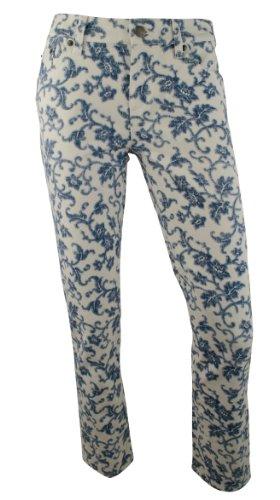 Ralph Lauren Belted Jeans (Ralph Lauren Women's Petite LRL Jeans Co Modern Straight Ankle Floral Print Jeans Pants-IM-6P)