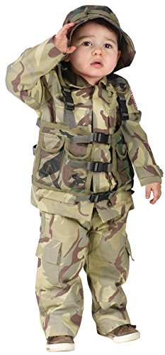 [UHC Little Boy's Army Delta Force Authentic Uniform Toddler Halloween Costume, 3T-4T] (Toddler Scary Halloween Costumes)