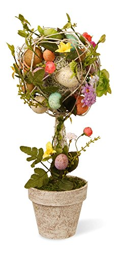 Garden Accents Easter Egg Topiary Flower Eggs Centerpiece Holiday Easter Decor