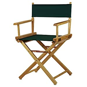 Casual Home 18″ Director's Chair Natural Frame with Hunter Green Canvas