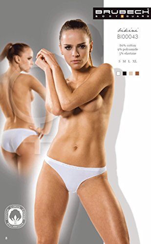 Brubeck Slip 'Bikini'5 x, sin costuras para mujer - Weiss/2012