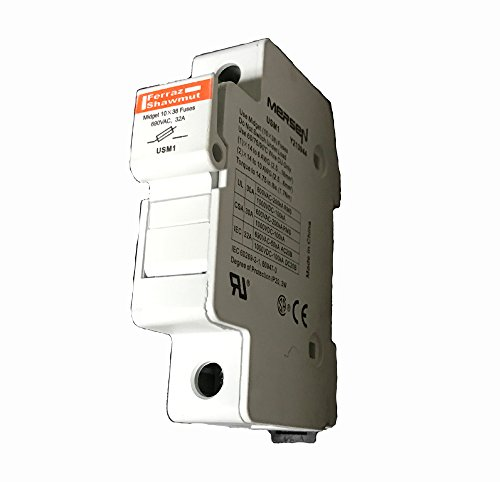 Fuse Holder - DIN Rail Mount For Midget (10X38MM) Fuses, 1000 VDC/690VAC, 32Amp, Touch-Safe - Midnite Solar, P/N MNTS by Midnight Solar