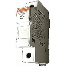 Fuse Holder - DIN Rail Mount For Midget (10X38MM) Fuses, 1000 VDC/690VAC, 32Amp, Touch-Safe - Midnite Solar, P/N MNTS