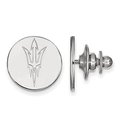 Solid 14k White Gold Arizona State University Lapel Pin (15mm x 15mm) (Arizona Lapel Pin)