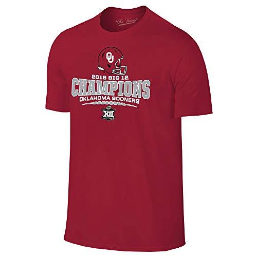 Oklahoma Sooners Big 12 Football Conference Champs 2018 T-Shirt - Medium - Cardinal