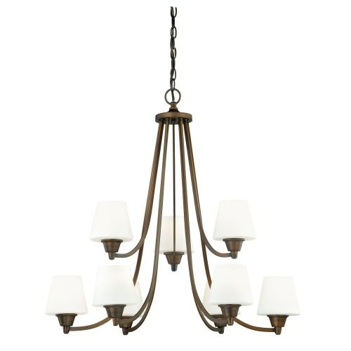 Vaxcel H0103 Calais 9-Light Chandelier, Venetian Bronze (Nine Light Venetian Bronze)