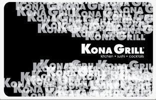 Kona Grill Gift Card -20 - Stores Kona