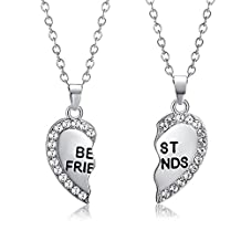 Teen Girls Necklace Cute Best Friends Pendants Sister BFF Couple Necklace Jewelry Mixpiju