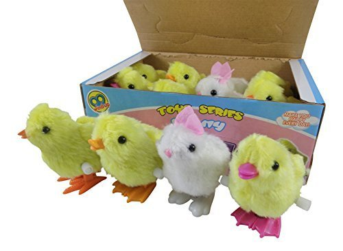 1 Dozen Wind-Up Jumping Chicken and Bunnies Party Favors (Pack of 12) by Liberty Imports ()