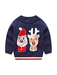 Sweetbaby Boys Girls Santa Reindeer Christmas Sweater Pullover Ugly Sweater