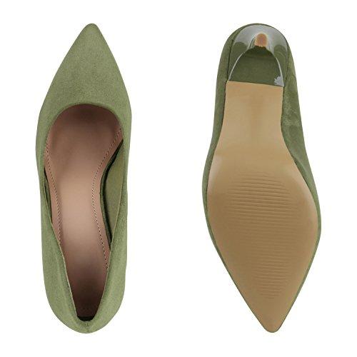 Spitze Damen Pumps Stiletto High Heels Lack Metallic