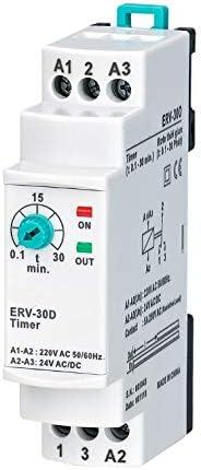 Rele Temporizador 0,1 a 30 minutos. Minutero de Escalera. 150-260VAC 24VDC 50/60 Hz: Amazon.es: Bricolaje y herramientas