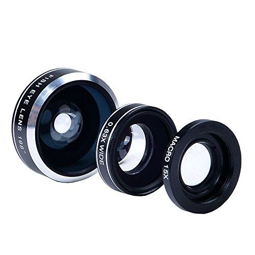 Iphone 7 Kamera-Objektiv-Set mit einem 12x Teleobjektiv / Fisheye Objektiv / 2 in 1 Makroobjektiv und Weitwinkel-Objektiv / Mini-Stativ / Universal-Halterung / Hard Case für Iphone 7 Samt Handytasche