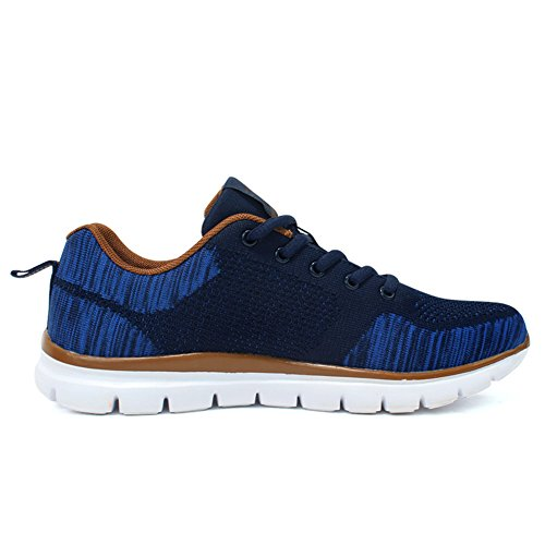 Lightweight Running Breathable Darkblue D slip Sneakers US Fly Lace for up Knit M Shoes Non men 10 xrX6Y7xn