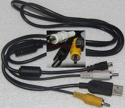 (FidgetFidget USB+AV Cable CB-USB7 Olympus FE-150 FE-160 FE-180 FE-190 FE-20 FE-220 FE-230)