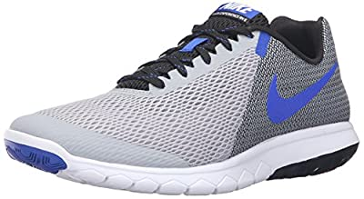 Nike Men's Flex Experience RN (Wolf Grey/Racer Blue/Blk/Wht) Running Shoe, 8 D(M) US