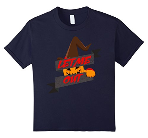 Kids Halloween Costume T-Shirt - Let Me Out 12 Navy - Mom N Son Halloween Costumes