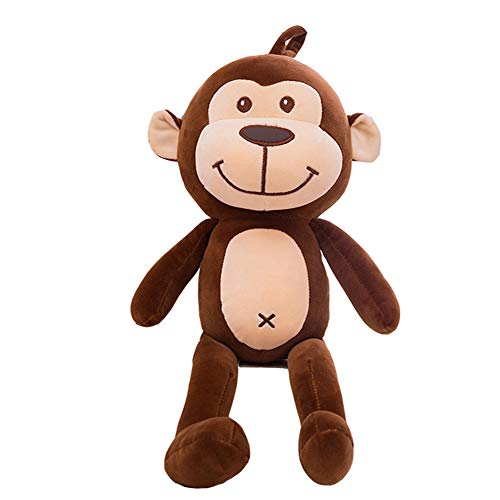 HYANF Cute Jumping Monkey Plush Toy Doll, Soft Filled Monkey Monkey Pillow Cushion, Children's Birthday Gift and Home Sofa Decor ()