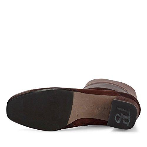 Paul Green 8073-008 Damen Stiefelette Aus Glatt- und Nubukleder Dezente Sohle Cognac/Braun