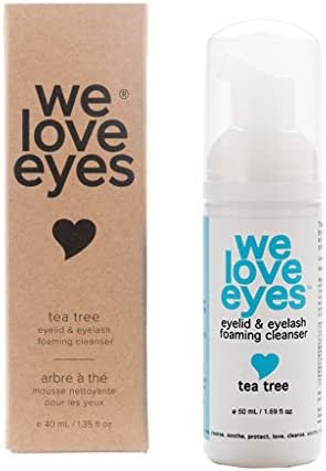 All Natural Tea Tree Eyelid Foaming Cleanser/Wash - We Love Eyes -Blepharitis, Demodex, Dry Eyes Relief and treatment, Wash Eyelashes, Reduce Itching and Inflammation, Paraben & Sulfate Free -50 ml