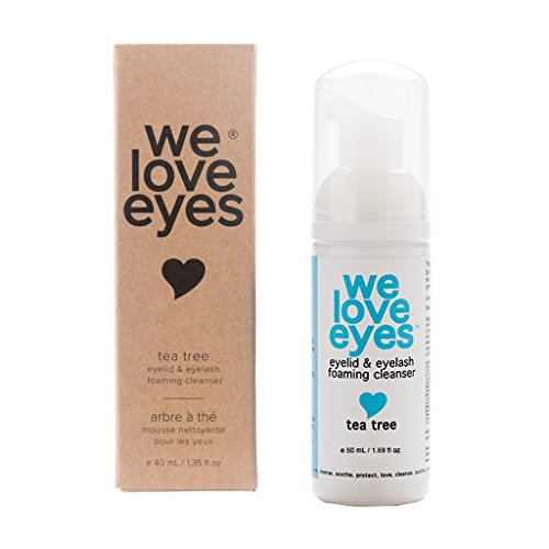 Sterilid Eyelid Cleanser - All Natural Tea Tree Eyelid Foaming Cleanser/Wash - We Love Eyes -Blepharitis, Demodex, Dry Eyes Relief and treatment, Wash Eyelashes, Reduce Itching and Inflammation, Paraben & Sulfate Free -50 ml