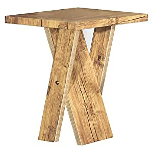 Jiwa Berani Dino End Table, Light Oak - 45H x 45W x 45D cm