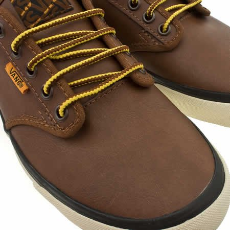 ... wholesale outlet 27b27 b50ae Vans Atwood - 11 Uk - Brown - Leather  Amazon.co ... 515cde5f71