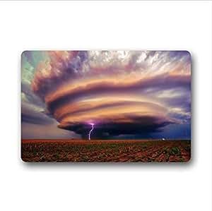 Beautiful Sight,Cool Tornado Pattern Design Custom Non-Woven Fabric Top,Indoors/Outdoors Doormat 23.6 x 15.7